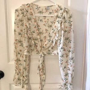 Chicwish floral crop top
